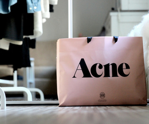 acne, pink, and shopping bag image