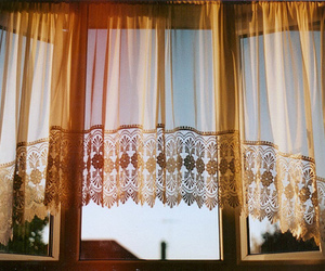 vintage, window, and curtains image