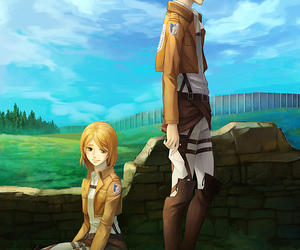 shingeki no kyojin, levi, and petra image