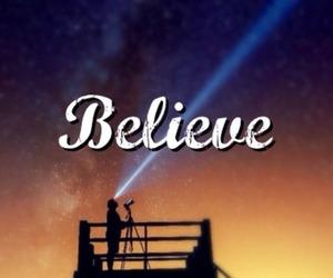 believe, sky, and stars image