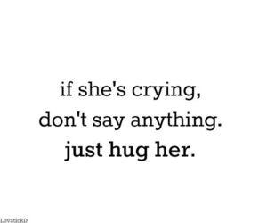 hug, crying, and quote image