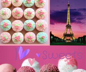 cake pops, cup cakes, and eiffelturm image