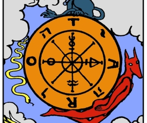 tarot and wheel of fortune image