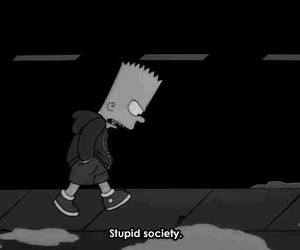 bart simpson, fuck you, and society image
