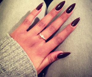 nails, ring, and black image