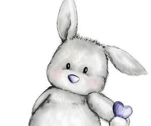 heart, rabbit, and cute image