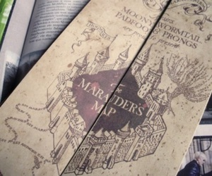 harry potter, hp, and the marauder's map image