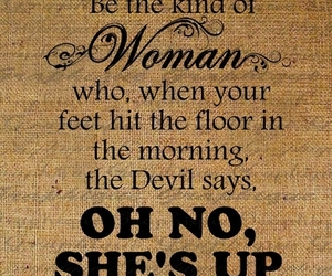 Devil, quotes, and woman image