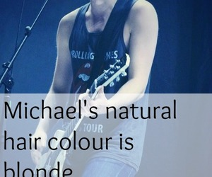 blond, blue hair, and guitar image