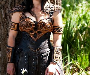 armour, gorgeous, and cleavage image