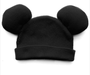 mickey mouse, gorros, and black heat image