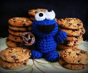 cookie monster, Cookies, and cute image