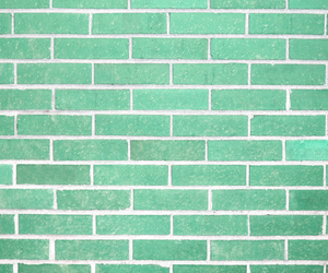 brick, turquoise, and wallpaper image
