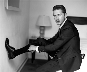black and white, sexy, and shia labeouf image