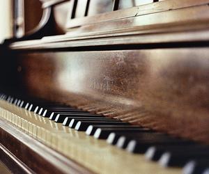 piano, music, and photo image
