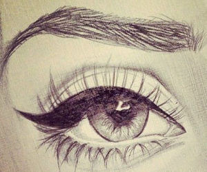 beauty, eye, and magnificent drawing-eye image