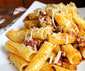 meat, sausage, and pasta image