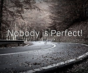 nobody, perfect, and quote image