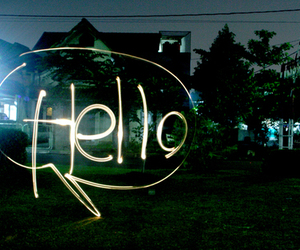 hello and light image