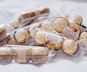 chocolate, food, and ferrero rocher image
