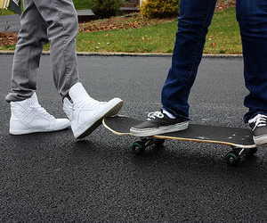 skate, shoes, and skateboard image