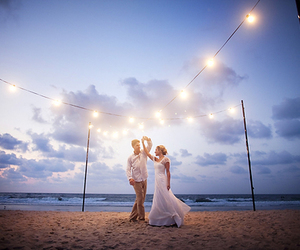 light, love, and beach image