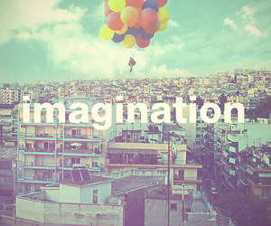 imagination, balloons, and city image