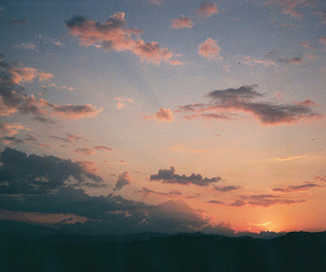 clouds, nature, and sunset image