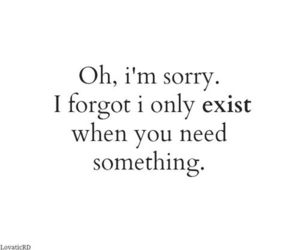 quote, sorry, and exist image