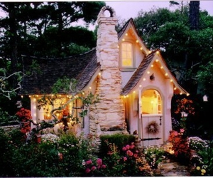 cottage, cozy, and lights image