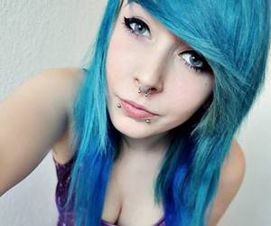cary capricious, blue hair, and dyed hair image