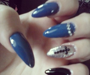 claws, cross, and nail art image