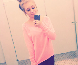 pink, sparkle, and sweater weather image