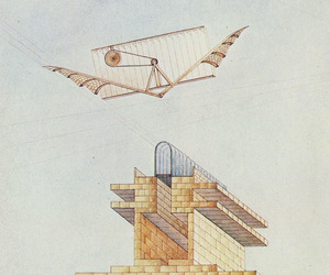 building, flight, and illustration image
