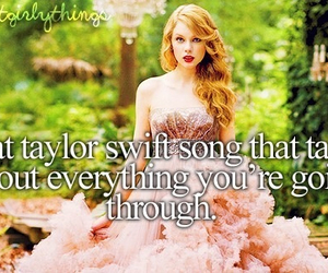 Taylor Swift, quote, and song image