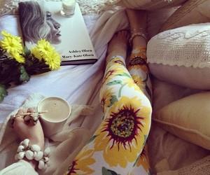 sunflower, flowers, and leggings image