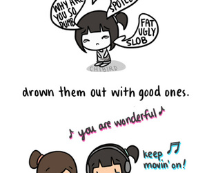 drawing, motivational, and music image