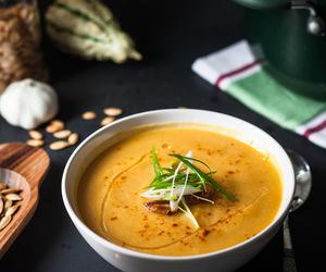 garlic, soup, and leek image