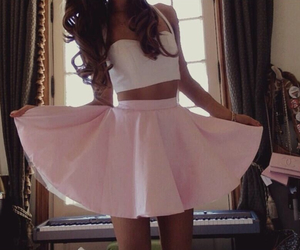 ariana grande, pink, and skirt image