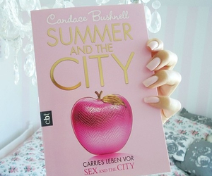 book, pink, and city image