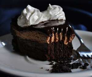 brownies, chocolate, and mousse image