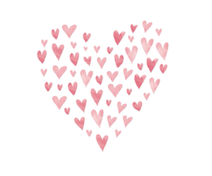 overlay, transparent, and hearts image