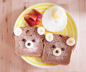food, breakfast, and bear image