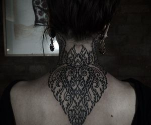 tattoo, neck, and back image