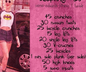 exercises, workout, and work out image