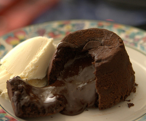 chocolate, petit gateau, and dessert image