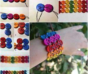 bracelet, diy, and buttons image