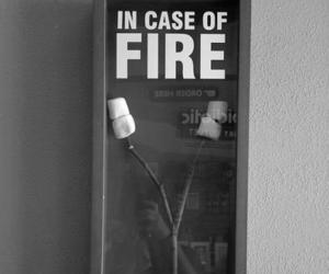 black and white, fire, and lol funny image