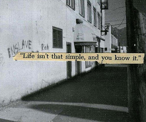life, simple, and quote image