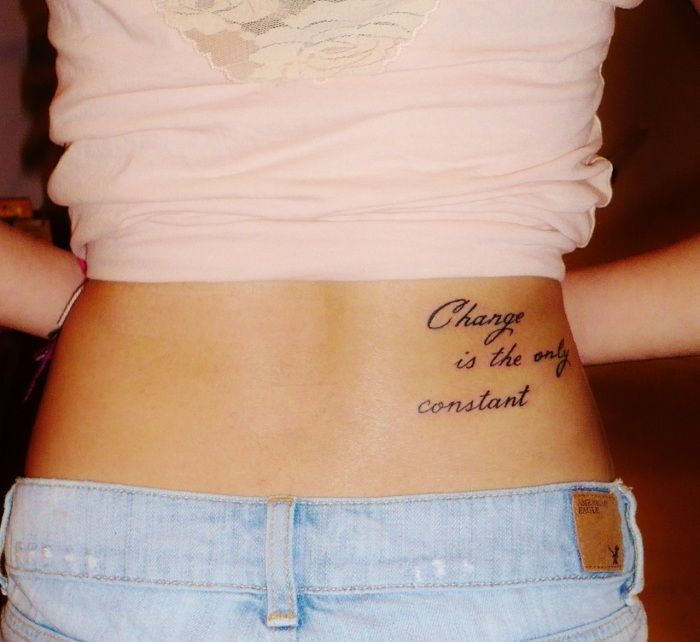 quote tattoos for girls on hip | Tattoos on We Heart It